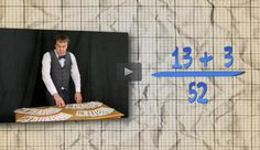 Compound Probability- In this video, learn how to find the probability of drawing a heart or queen from a standard playing card deck. In the accompanying classroom activity, students solve problems involving the probability of picking particular cards at random. Next, they consider the probability of randomly drawing a heart or queen and compare their solution strategies with the approach demonstrated in the video.