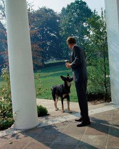 Clipper, a German Shepherd Dog, was a Kennedy family dog.
