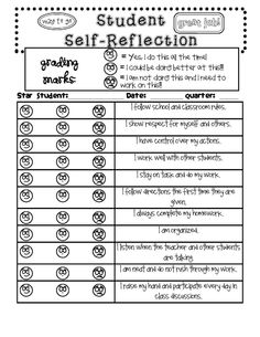 self-reflection sheet