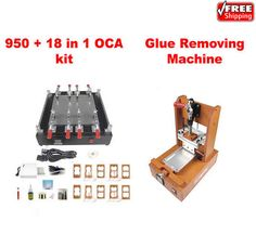 LY 950 LCD touch screen separating machine for pad mobilephone repairing with 18 in 1 OCA repair kit+glue removing machine