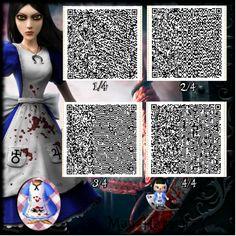 Alice Madness Dress Animal Crossing New Leaf Qr Code