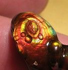 Superb fire agate gemstone from Slaughter Mountain. SOLD