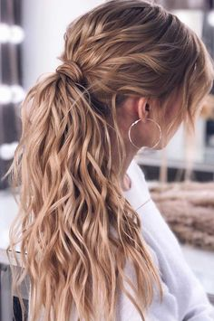 korean wedding hairstyles 53 Best Ponytail Hairstyles { Low and High Ponytails } To Inspire , hairstyles Prom hairstyle, easy ponytails, puff ponytails High Ponytail Hairstyles, Ponytail Styles, Easy Hairstyles, Wedding Hairstyles, Curly Hair Styles, High Ponytails, Hairstyles Videos, Hair Color Dark, Cool Hair Color