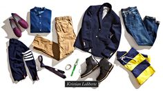 """Kristian Laliberte  Senior Editor, Refinery29.com  """"I want to look more 'grown-up' this fall without sacrificing a youthful sense of fun. Think suits, blazers, and slim sweaters in darker tones contrasted with richly-colored accessories or eccentric detailing. For example, I'd takeThom Browne's classic blue blazer, with its more tailored fit and preppy-luxe gold buttons, and pair it with hissignature quirky take on the skinny tie trend, finishing the look off withMichael Andrew Saiger's…"""