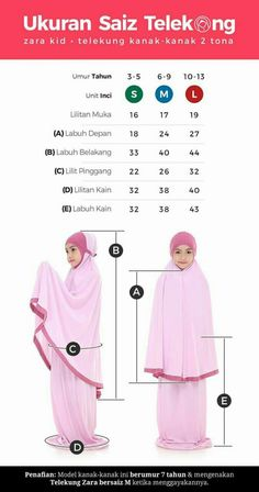 Dress Sewing Patterns, Sewing Patterns Free, Clothing Patterns, Muslim Fashion, Hijab Fashion, Tudung Shawl, Zara Kid, Croquis Fashion, Baby Hijab