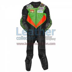 Christian Treutlein IDM 1997 Motorcycle Suit for $719.20 - https://www.leathercollection.com/en-we/christian-treutlein-motorcycle-suit.html