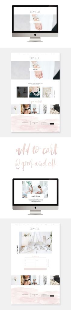 GEM + ELLI WEBSITE DESIGN BY STUDIO 9 CO
