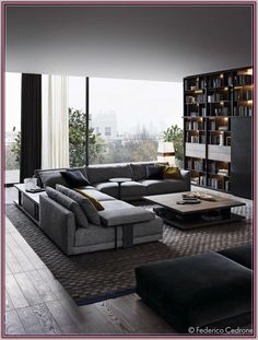 Ideas for modern living room decoration - color, furniture and lighting - Diydekorationhomes.club - Ideas for modern living room decoration – color, furniture and lighting # … - Dark Living Rooms, Living Room Colors, Living Room Grey, Living Room Furniture, Living Room Decor, Dark Rooms, Rustic Furniture, Furniture Ideas, Dining Room