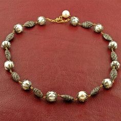 Pearl & Brown Diamond Necklace