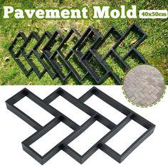 Red Brick Pavers, Brick Paver Driveway, Brick Patios, Paver Walkway, Concrete Paver Mold, Cement Pavers, Diy Concrete, Brick Molding, Diy Molding