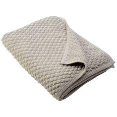 Sefte Kantu Woven Silver Throw Blanket @Zinc_Door