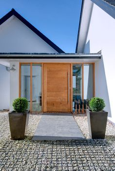 Two New Houses, Private Client, Cornwall - contemporary - Entrance - South West - Trewin Design Architects