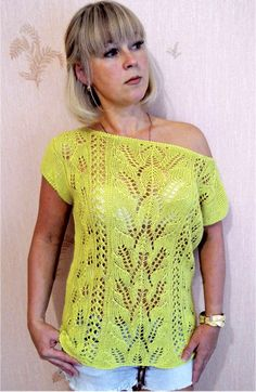 Top in Lace Pattern Size: 12/14 https://knit-charts.com/item/top-in-lace-pattern-6.html #knit #knitt #knitted #knitter #knitting #top #topknit #lacepattern