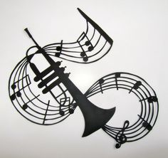 TRUMPET and Music NOTES - GRADUATION Gift Black Silhouette Paper Cut 4 Music Lovers Wall and Home Décor Handmade Framed One Of A Kind      ¸.•*´´*•.¸¸.•*´´*•.¸¸.READY TO BE SHIPPED¸.•*´´*•.¸¸.•*´´*•.¸¸.    ARE YOU LOOKING FOR A VERY UNUSUAL UNIQUE PIECE OF ART TO BE GIVEN TO YOUR LOVED ONE, YOUR BEST FRIEND, FIANCE', WIFE, HUSBAND, SON, DAUGHTER, MOTHER, FATHER, GRANDPARENTS OR JUST FOR SOMEONE SPECIAL TO YOU?…
