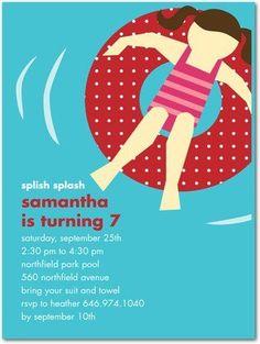Swimming Party Invite