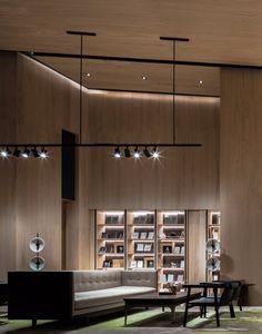 朴质的奢华 | 自然纯粹的当代设计 Interior Design Living Room, Modern Interior, Lobby Reception, Stone Facade, Lounge Design, Hotel Interiors, Ceiling Design, Design Inspiration, Indoor
