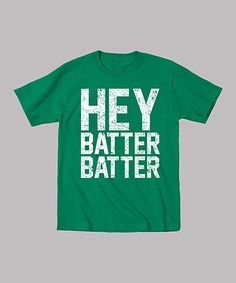 Kelly Green 'Hey Batter Batter' Tee.