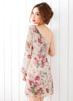 one shoulder floral dress - Google Search