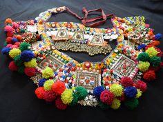 Vintage Kuchi Camel Pendant Set Dance Necklace Tribal Belt Belly Dance. $84.95, via Etsy.