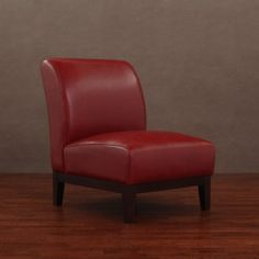 Complete your living room decor with this Cole burnt red leather chair  Leather finish on this piece of furniture is both sleek and comfortable  Contemporary chair will enhance any home decor