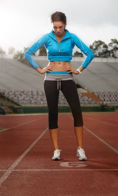 Fitness Fashion on the Track.