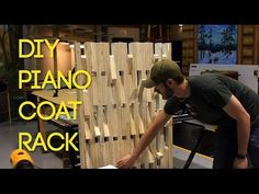 BUILD: Piano-style Wooden Coat Rack - YouTube | This version appears to be made from plywood, unlike the original, which was solid  hardwood.