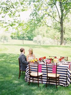 wedding - stripes and color