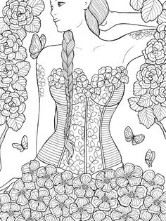 Mon carnet de notes a colorier pour révéler ma vraie nature, a coloring book Published by Rustica Editions, France, 2015.55 line drawing illustrations focused on female body and nature.All ink on paper