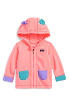 Patagonia 'Fleecy Ears' Jacket (Baby Girls) available at #Nordstrom