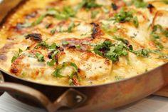 Två små kök: Saftig parmesankyckling i ugnen