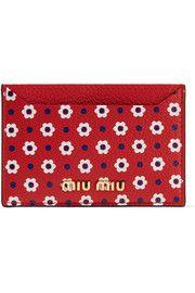 Miu MiuPrinted textured-leather cardholder