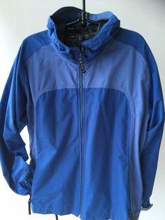 S O L D  Sterns Nomad Drywear Rain Jacket Hood Visor Waterproof Full Zip Pockets Women L #Stearns #Raincoat