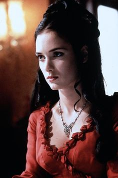 Winona Ryder as Mina Murray/Elisabeta in Dracula (1992). Period and costume drama.