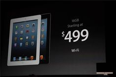 Apple surprises with fourth-generation iPad, starts at $499 | Apple - CNET News. As part of the iPad Mini announcement today, 7 months after the iPad 3, Apple announces the iPad 4, with the same speed found in the new iPhone 5.