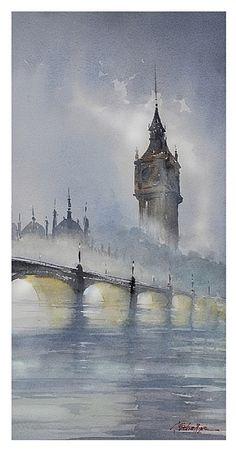 london - fog II by Thomas  W. Schaller