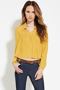 Contemporary Collared Blouse