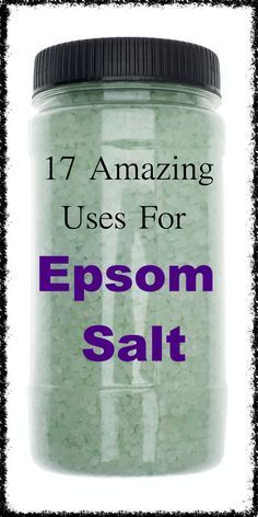 Epsom salt has been used for centuries as a natural remedy for a number of ailments, and also has many beauty, gardening and household uses.