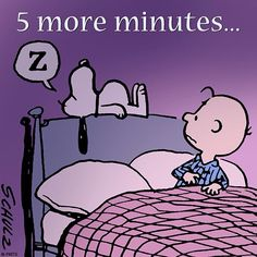 5 more minutes. Sleepy Snoopy.