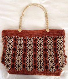 Soda Tab Crafts, Can Tab Crafts, Crochet Handbags, Crochet Purses, Beading Patterns Free, Crochet Patterns, Pop Top Crafts, Pop Can Tabs, Gift Wrapping Tutorial