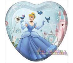 Cinderella \u0027Dreamland\u0027 Large Heart Shaped Paper Plates ...  sc 1 st  Pinterest & Cinderella \u0027Stardust\u0027 Small Paper Plates (8ct) | Cinderella ...
