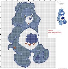 Grumpy Bear (Care Bears) cross stitch pattern