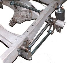 4-bar rear suspension, parallel leaf-springs, triangulated 4-bar kits