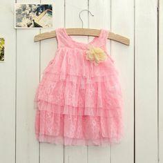 Sale 22% (9.09$) - Newborn Toddlers Baby Girls Summer Layered Dress