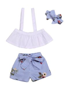 Gorgeous Baby Girls Summer Prom Party Dress Knickers Headband 3 pc set 0-18 M