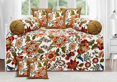 Diwan Sets Printed Pure Cotton 90 X 59 Diwan Set  Bedsheet Fabric: Cotton Bolster Cover Fabric: Cotton Cushion Cover Fabric: Cotton No. of Bedsheets: 1 No. of Bolster Covers: 2 No. of Cushion Covers: 5 Thread Count: 180 Print or Pattern Type: Solid Multipack: 1 Sizes:  Free Size (Bedsheet Length Size: 90 in Bedsheet Width Size: 59 in Bolster Cover Length Size: 32 in Bolster Cover Width Size: 15 in Cushion Cover Length Size: 15 in Cushion Cover Width Size: 15 in) Country of Origin: India Sizes Available: Free Size   Catalog Rating: ★4.3 (2239)  Catalog Name: Printed Pure Cotton 90 X 59 Diwan Set CatalogID_1075262 C117-SC1107 Code: 957-6743319-4791