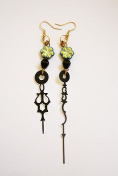 Steampunk Clock Hand Earrings  Neo Victorian  by mannequinreject