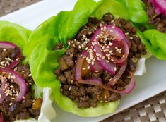 Low Carb Chinese Beef Lettuce Wraps