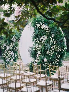 Greenery Wedding Ceremony Backdrop, Circlular Altar Backdrop, Wedding Flower Ins. Wedding Ceremony Ideas, Wedding Altars, Outdoor Wedding Decorations, Ceremony Arch, Wedding Photos, Backdrop Wedding, Wedding Arches, Backdrop Photobooth, Wedding Themes