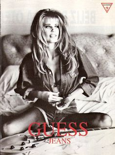 guess ads claudia schiffer