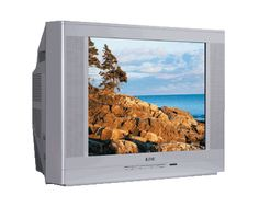 Silver TV set